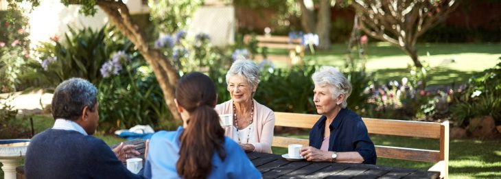Retired friends gather for coffee