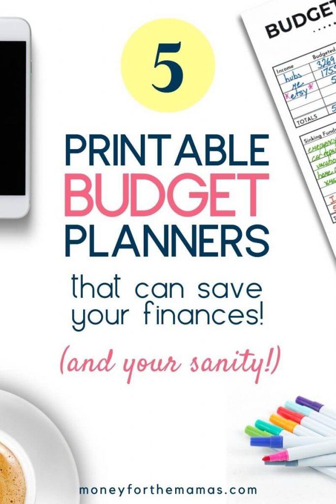 5 printable budget planners to save your finances