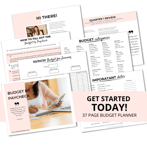 budget by paycheck printable budget planner pages