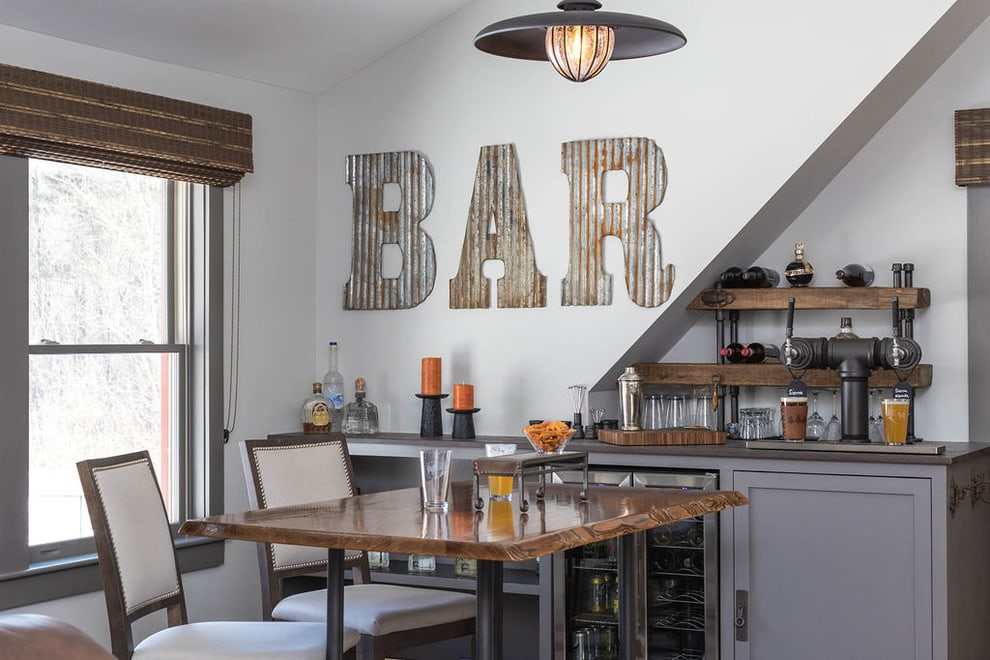 home bar setup