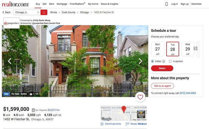 Select the date, time, and format of your next home tour.